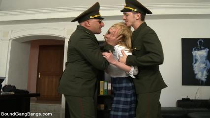 Free Bdsm Gang Bang Porn - Daddy's Girl - 19 Yr Old Russian Cutie's House Is Invaded By Officers