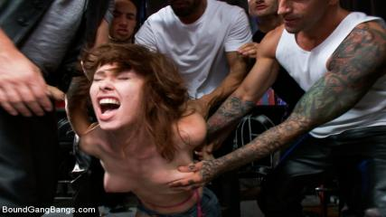Girl Tied Up And Gang Banged - Road Trippin' - Featuring Melody Jordan's First GangBang