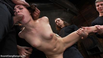 Kink Porn Gangbang - Gorgeous French Girl Taken Down In Rough Gangbang